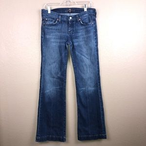 7 For All Mankind Dojo Flare Jeans Size 30